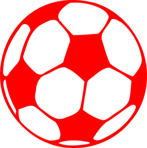 soccer ball clipart red