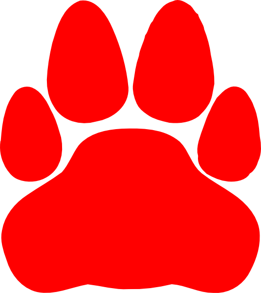 Red paw print png. Cat clip art at