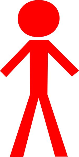 Red clipart person.