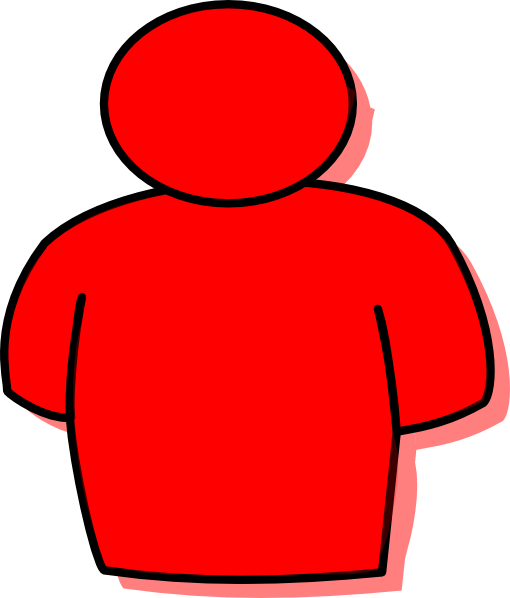 Red clipart person. Man clip art at