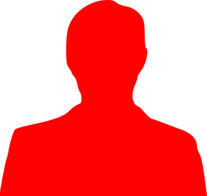 Red clipart person. Outline clip art at