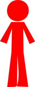 Red clipart person. Stick clip art at