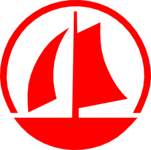 Red ship. Boat clipart