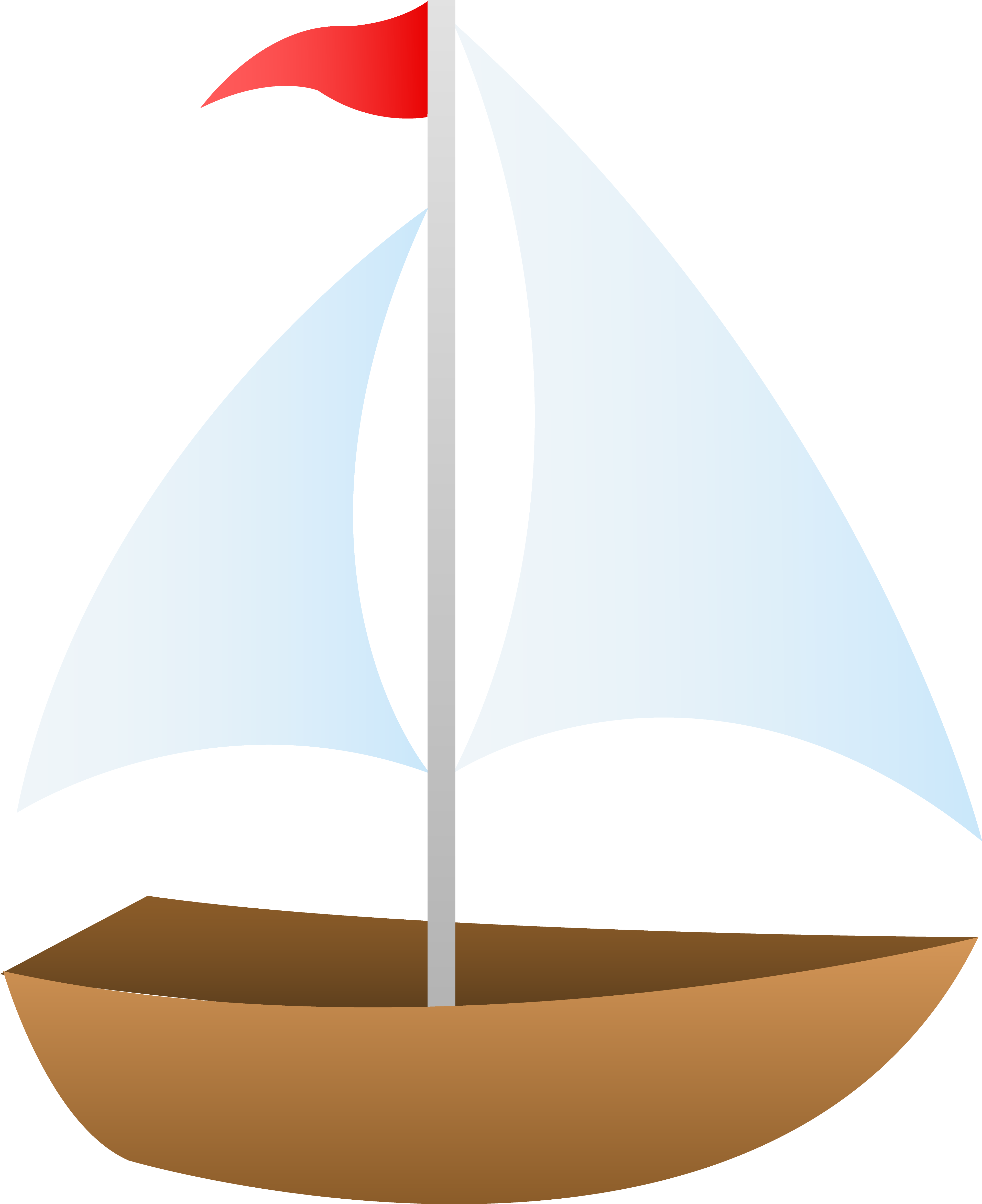 Red clipart sailboat. Free
