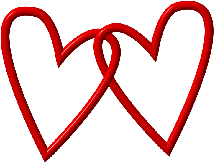 2 hearts png. Two red heart clipart