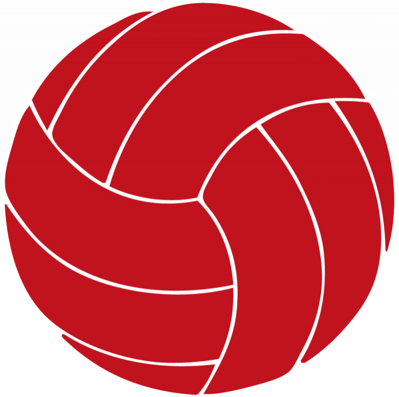 Volleyball clipart volleyball ball. Red