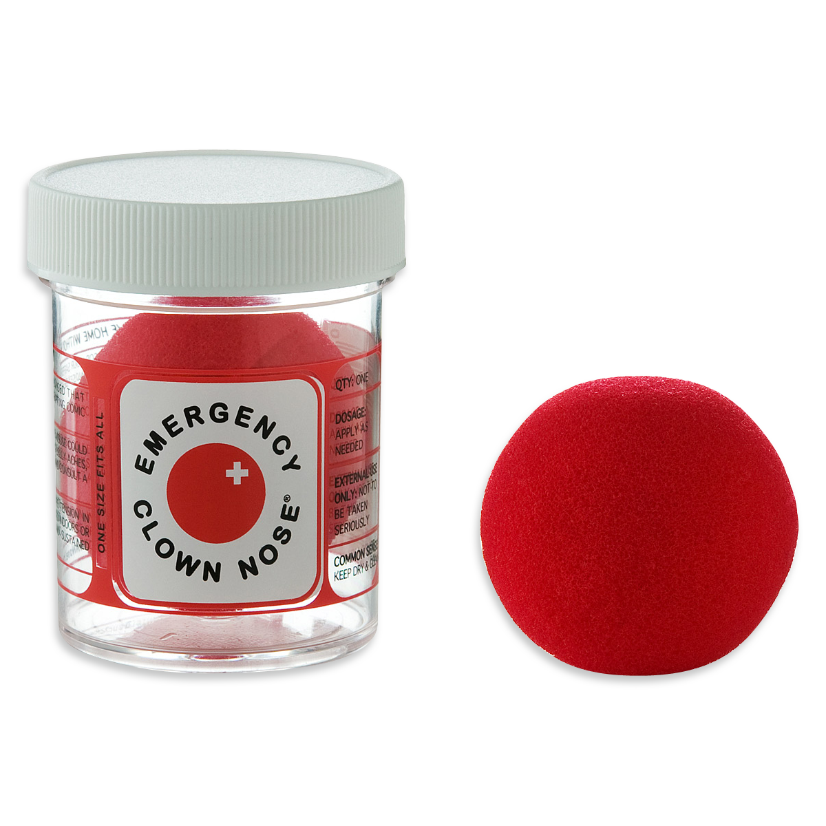 Red clown nose png. Emergency gessato