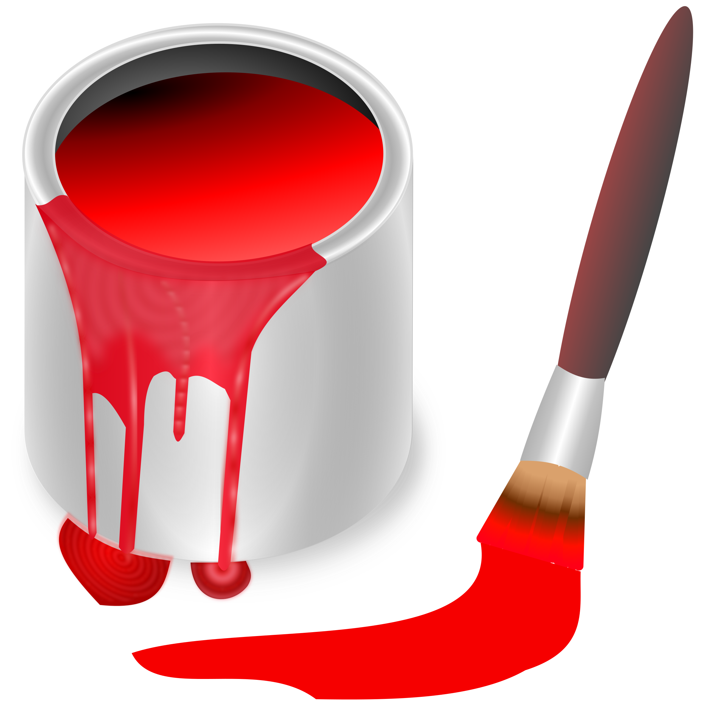 Bucket transparent coloring. Color red icons png
