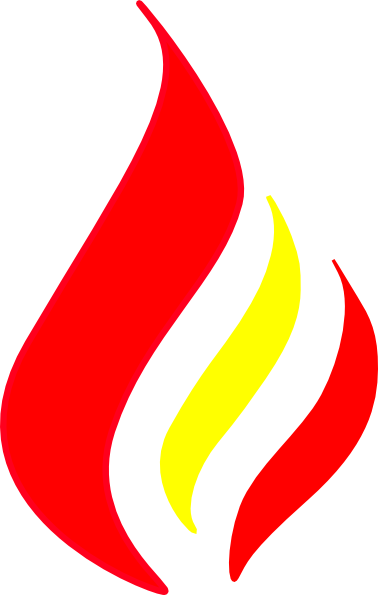 Red color png. Flame solid clip art