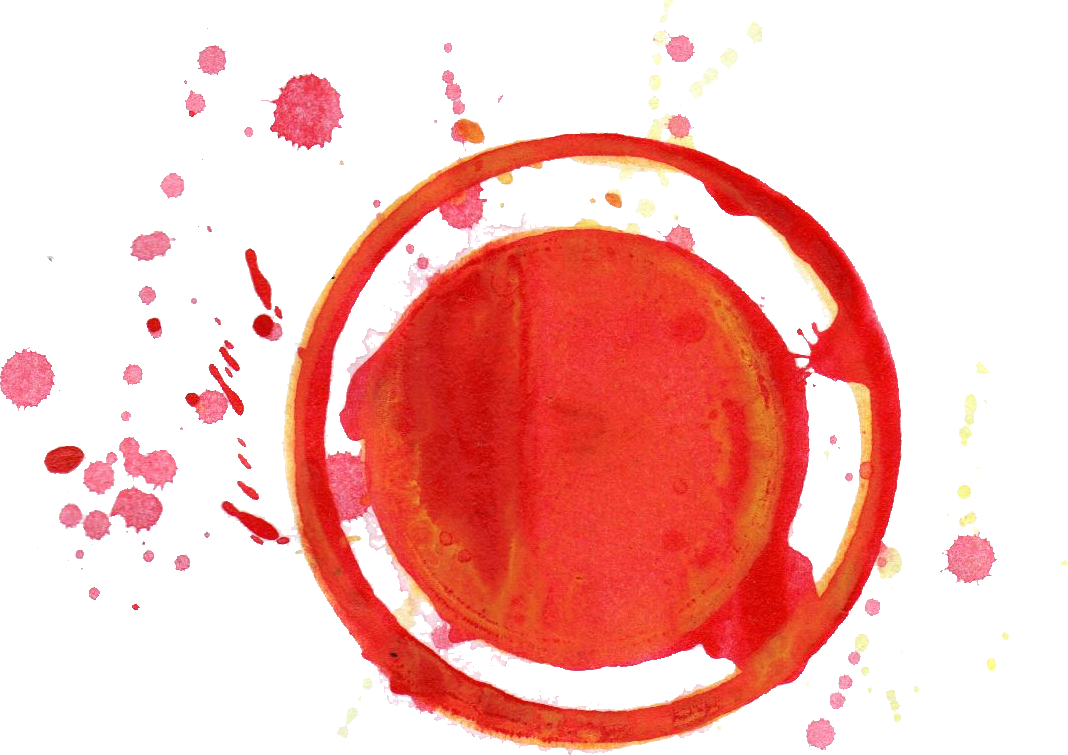 Red color png. Colorful watercolor circle