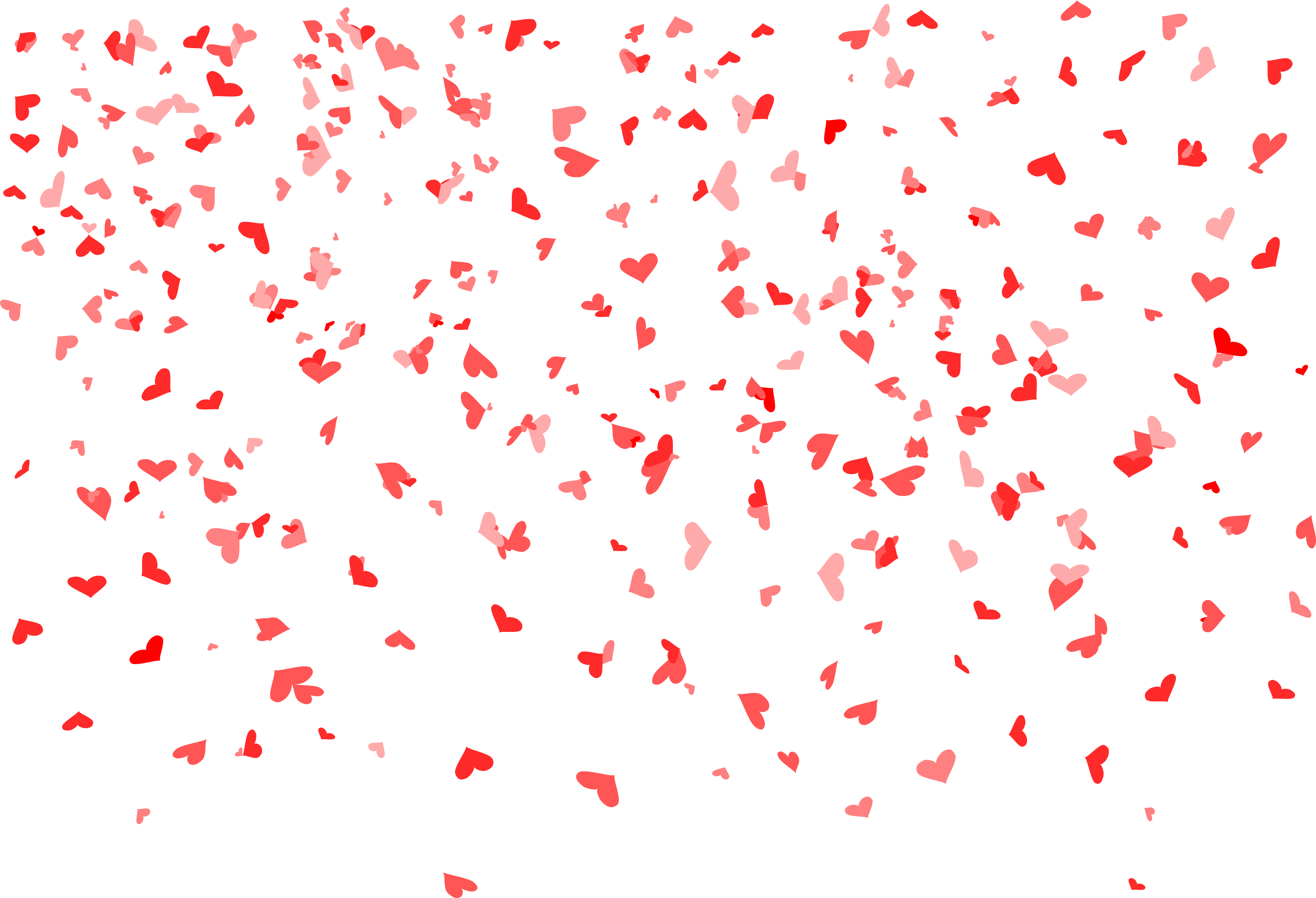 Opening vector confetti. Heart background png