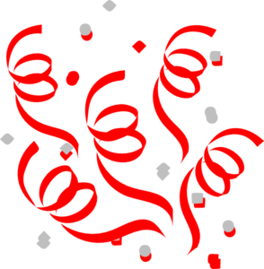 Red confetti png. Explosion clip art at