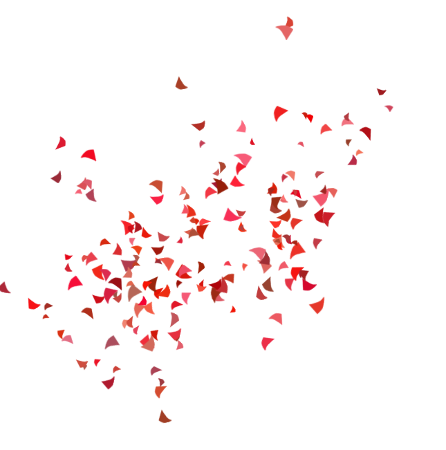 Red confetti png. Party costume clip art