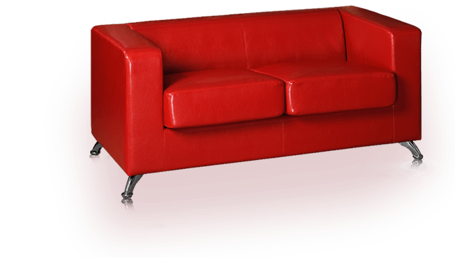 Transparent couch red. Sofa png stickpng