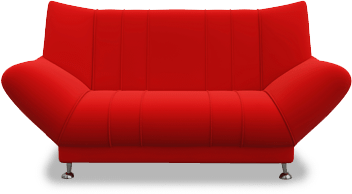 Transparent couch red. Home hymark furniture