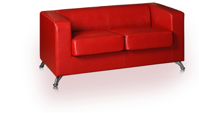 Red sofa image . Couch png library