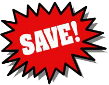 Red coupon png. Annual book sale viterbo
