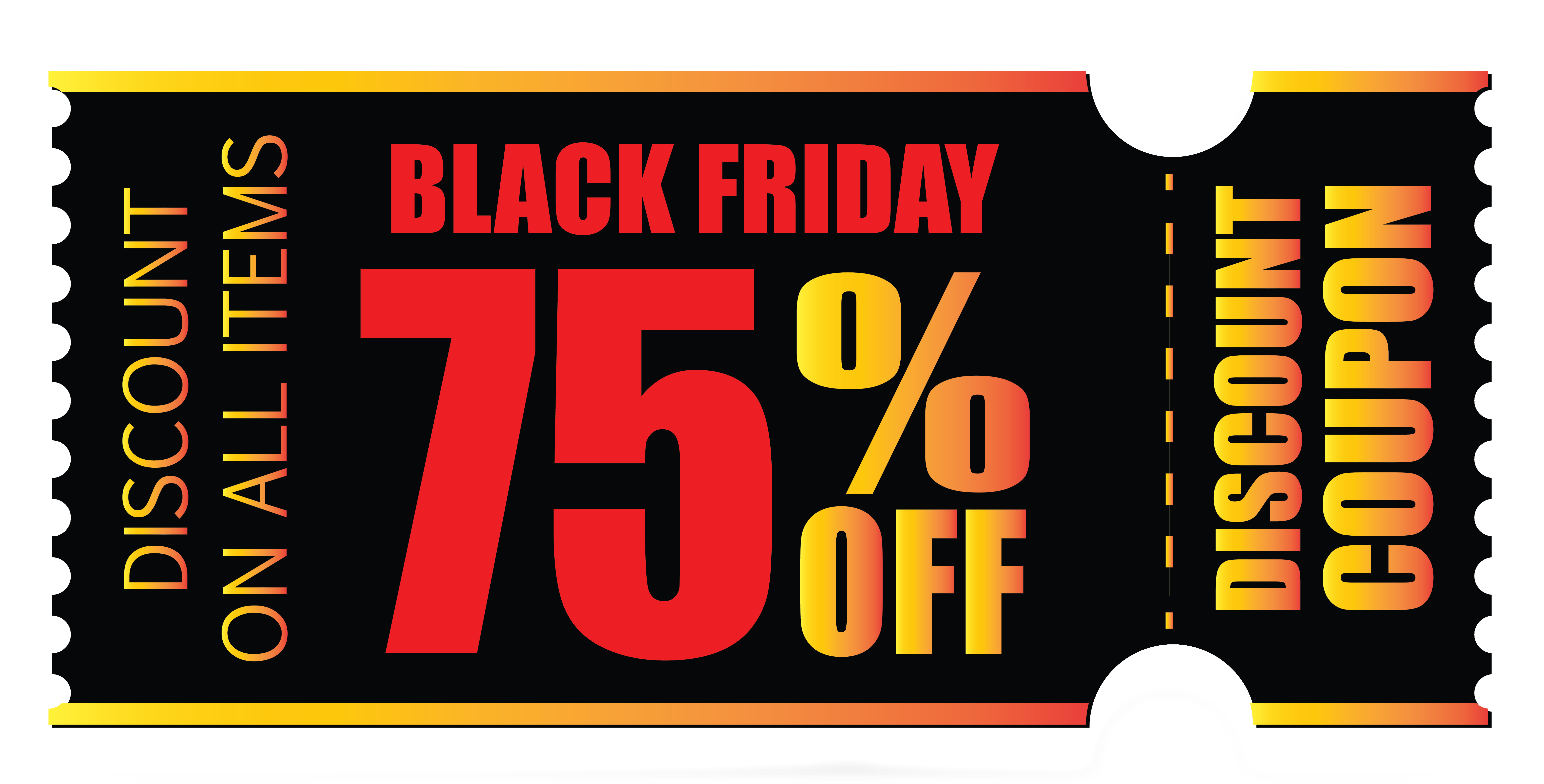 Red coupon png. Black friday clipart image