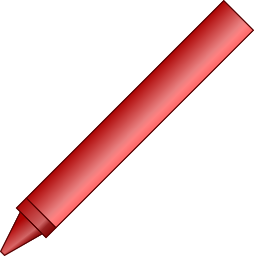 Red crayon png. Clipart i royalty free