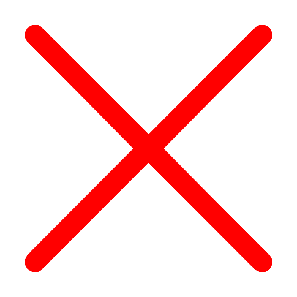 Png red x. Cross mark transparent images