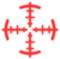 Red crosshair png. Image