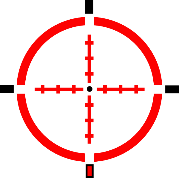 Red crosshair png. Crosshairred clip art at