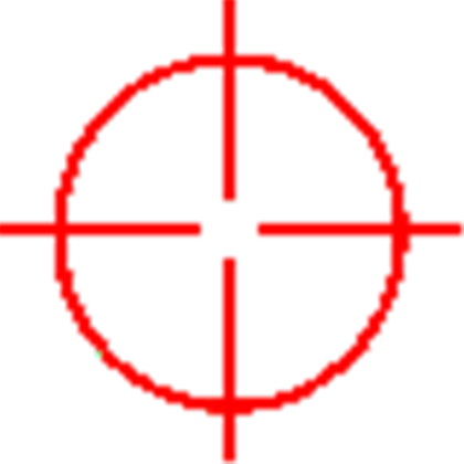 Red crosshair png. Crosshairs roblox