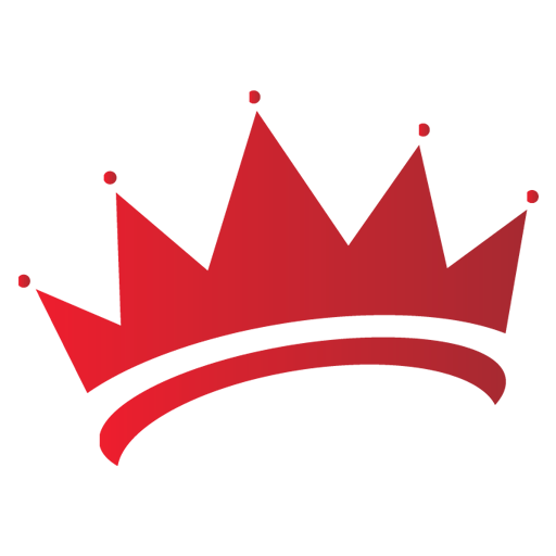 Red crown png. Image royalty free stock
