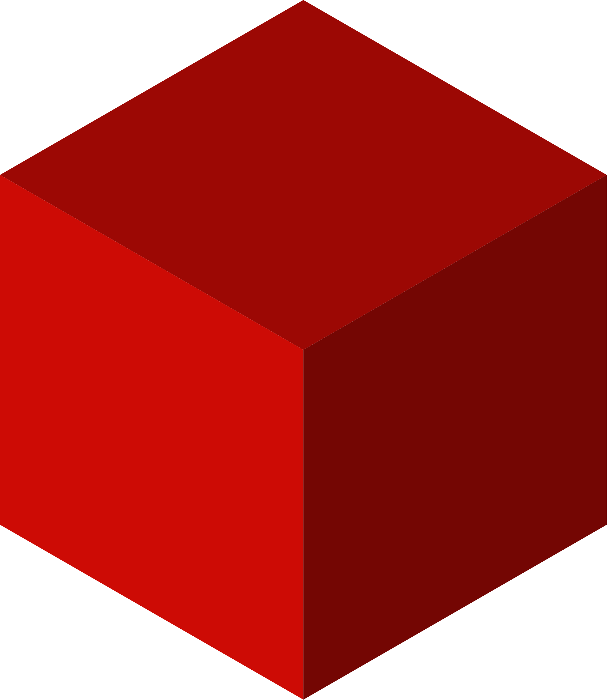 Cube clip red. File uniform polyhedron axonometric