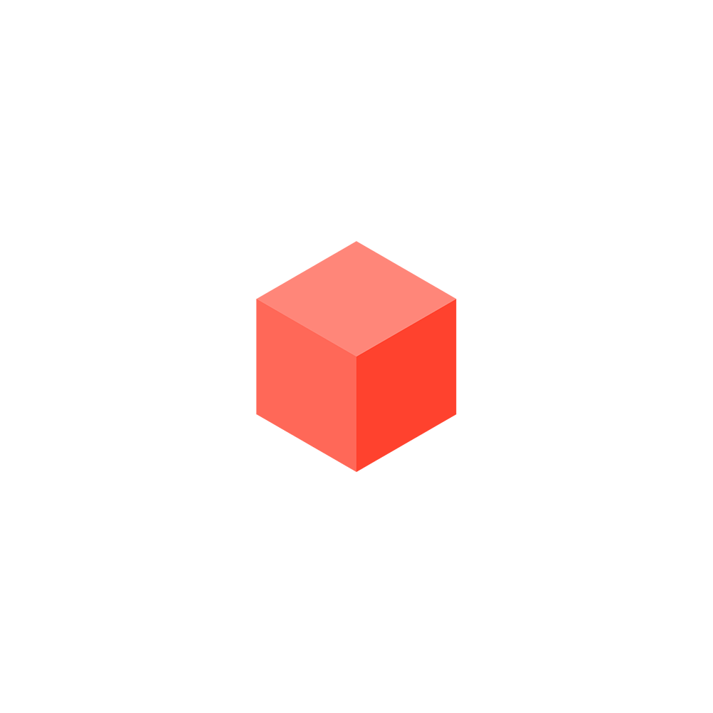 Red cube png. The vertical village