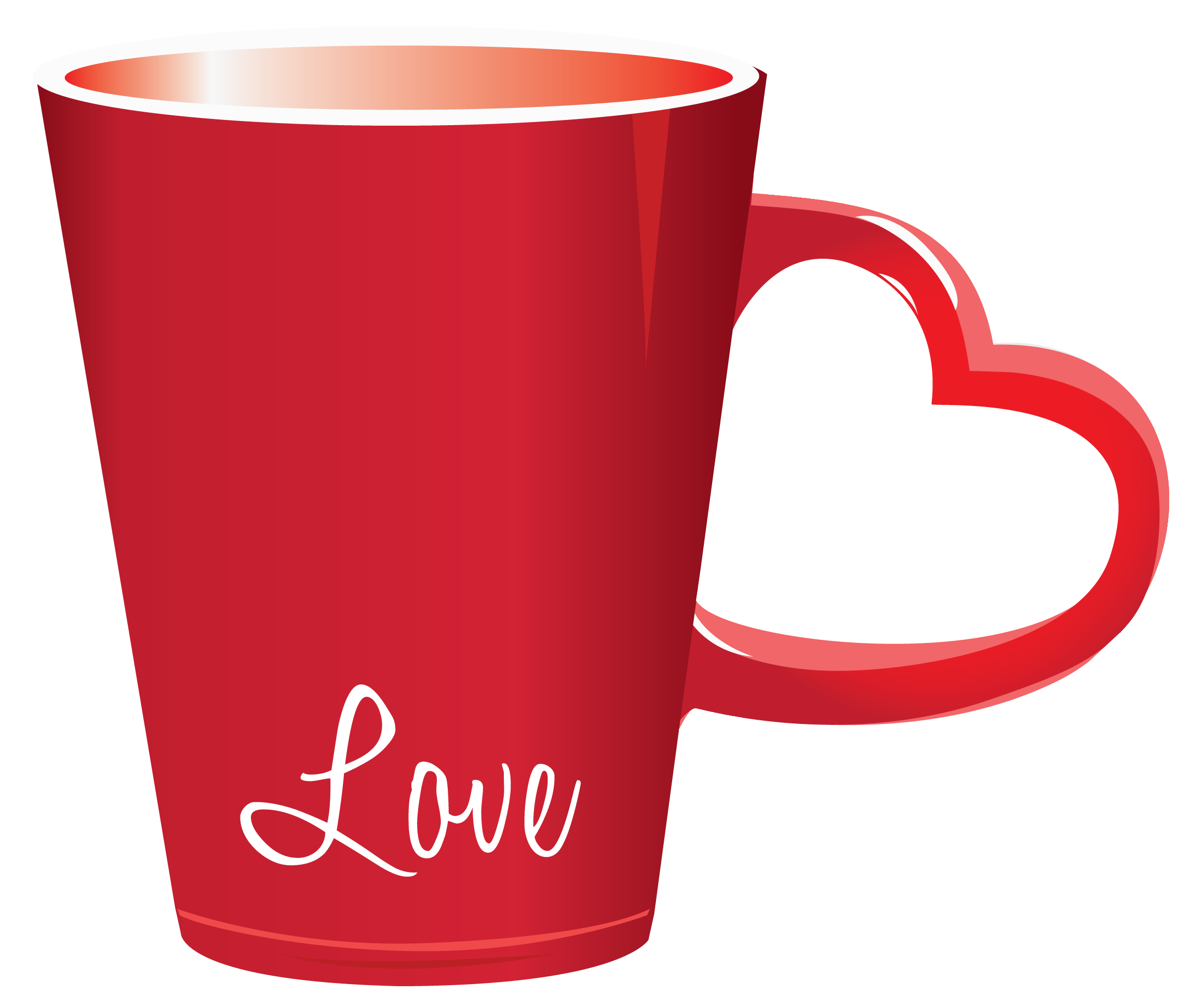 Red cup png. Valentine love clipart picture