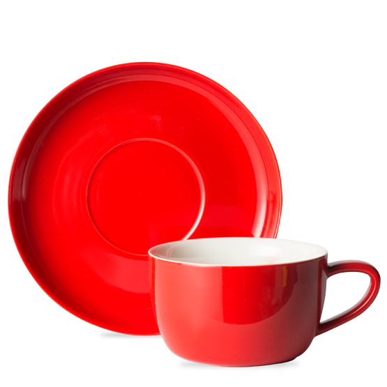 Red cup png. T teaset and saucer