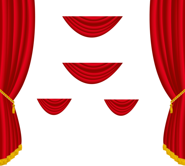 Red curtain background png. Picture transparent isolated free