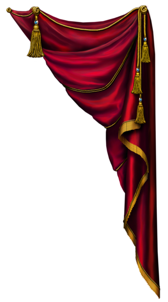 Red stage curtains png. Transparent curtain clipart paper