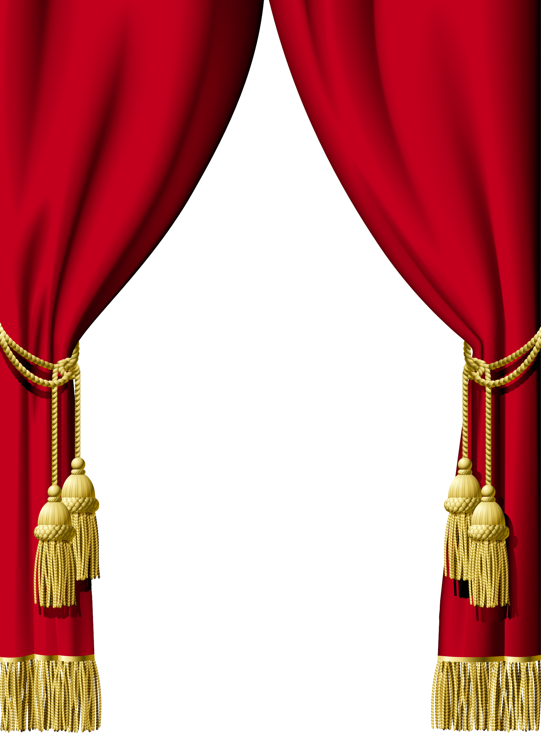 Stage transparent gold. Curtains png images free