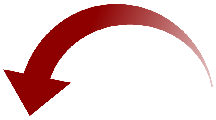 Red curved arrow png. Down transparent stickpng