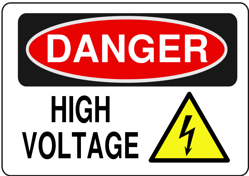 Red danger. Free clipart high voltage
