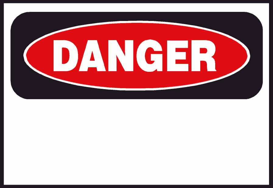 Red danger. Free students signs clipart