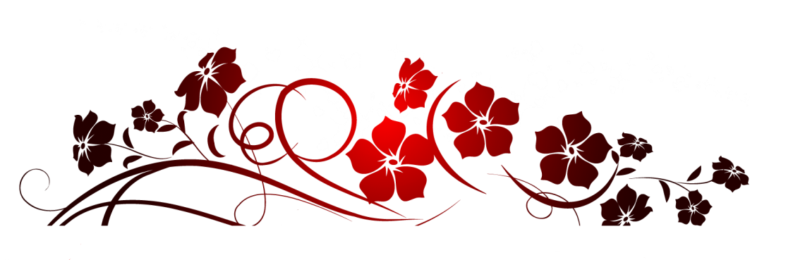 Red designs png. Flowers decoration clipart invite
