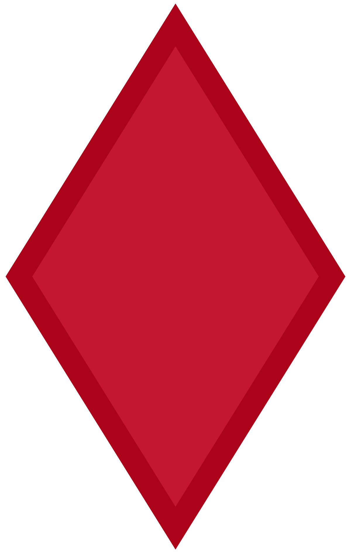 Red diamond shape png. Th infantry division