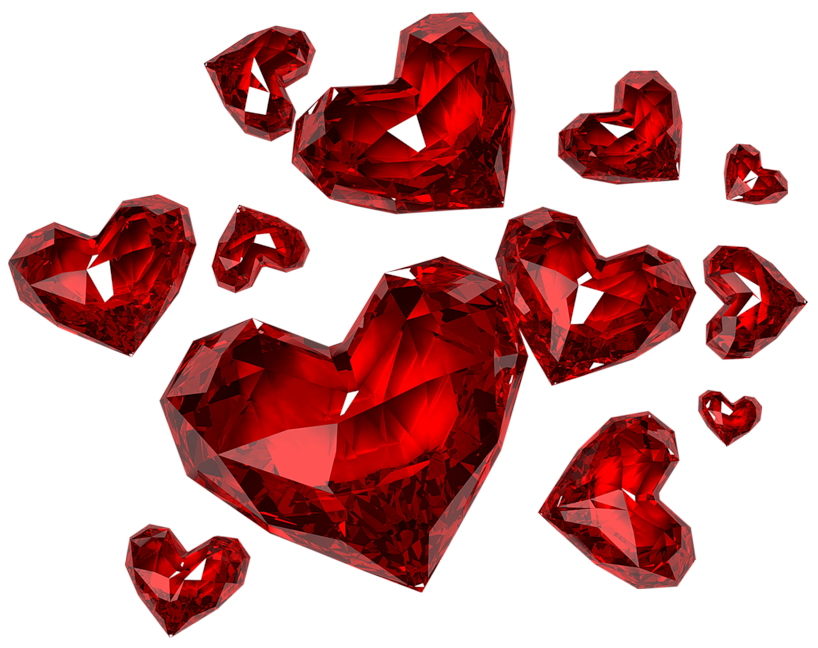 Red diamonds png. Diamond hearts clipart gallery