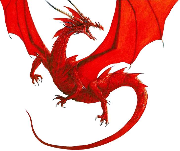 Red dragon png. Render by moonmanxo on