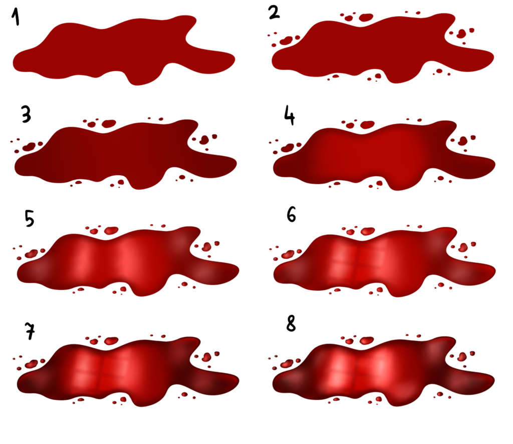 Red drawing. How to draw blood