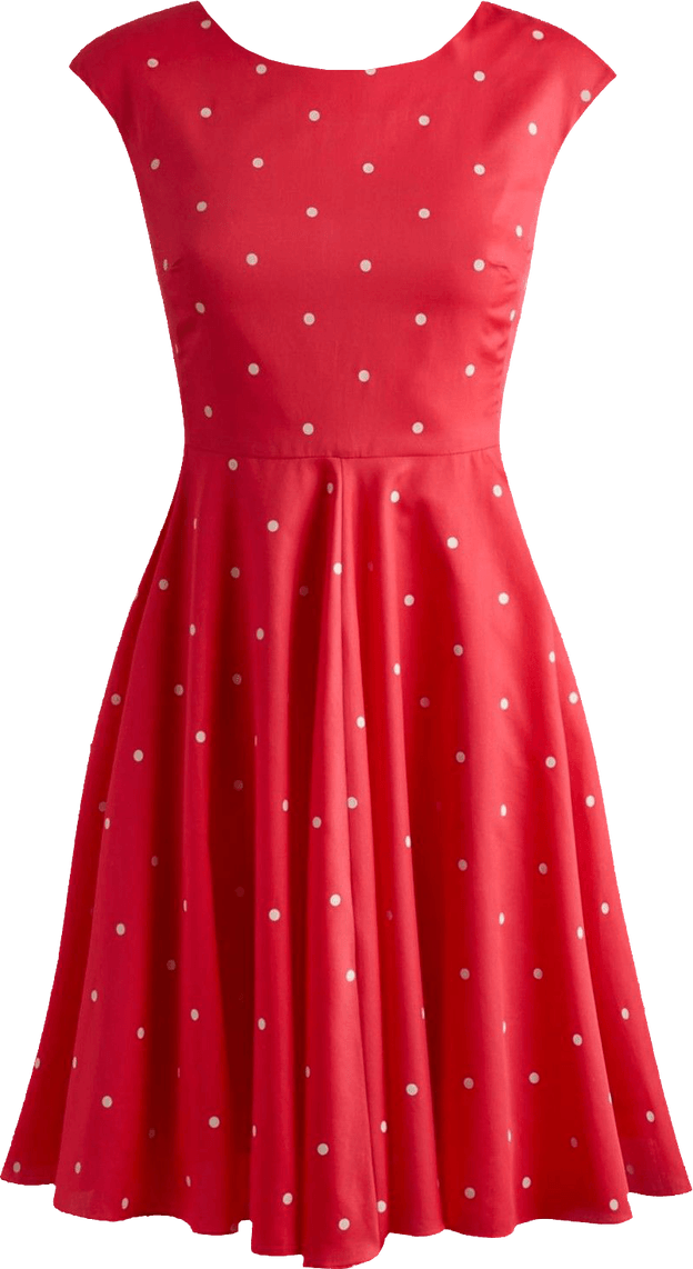 Red dress png. Fifties style transparent image