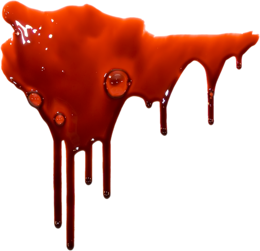 Red drip png. Blood on a transparent