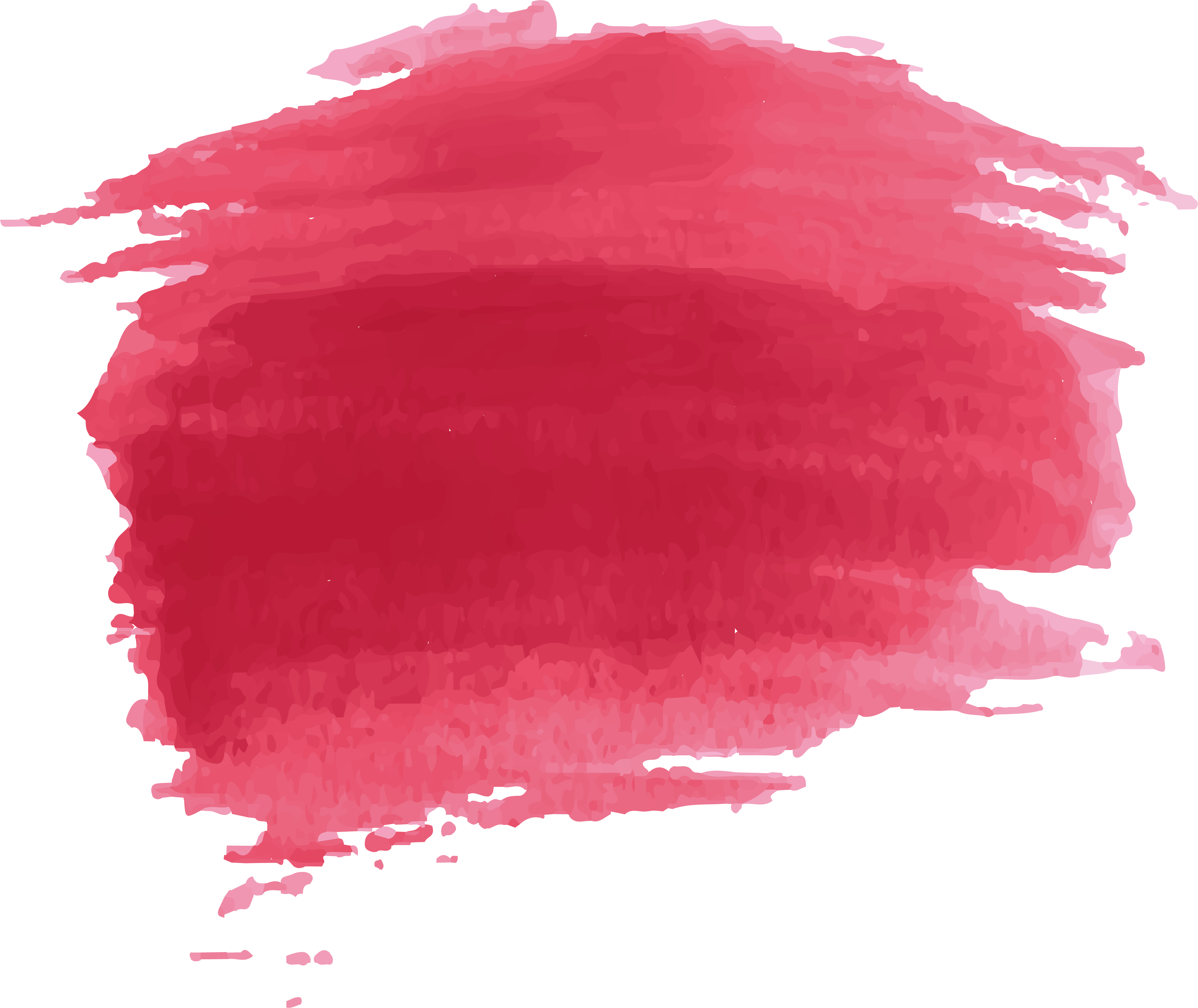 Watercolor painting paint transprent. Red effect png library