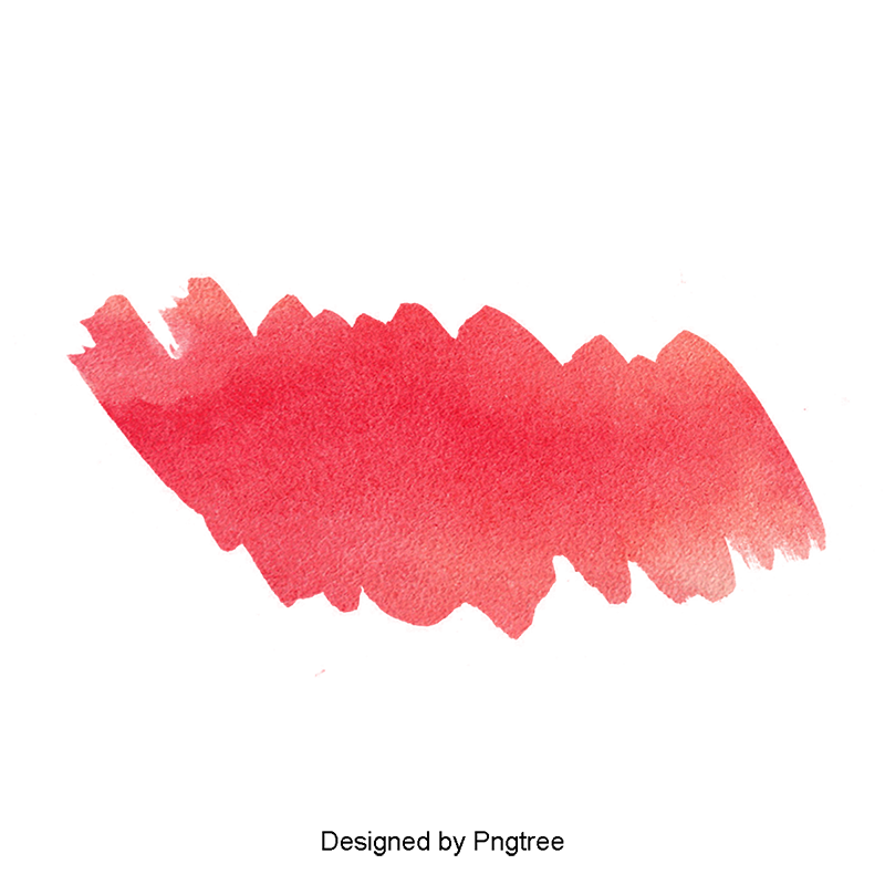 Red effect png. Watercolor clipart color drawing