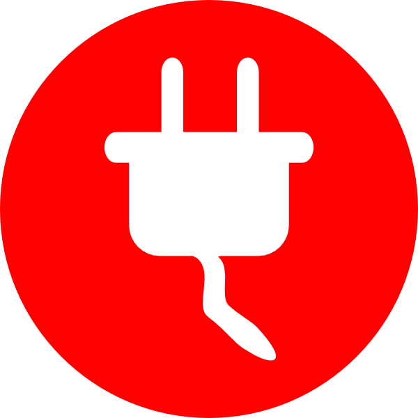 Red electricity png. Icons vector free and