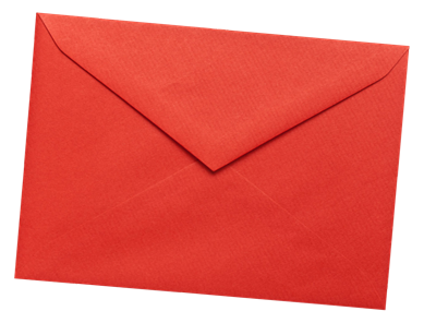 Envelope transparent red. Discount must be used
