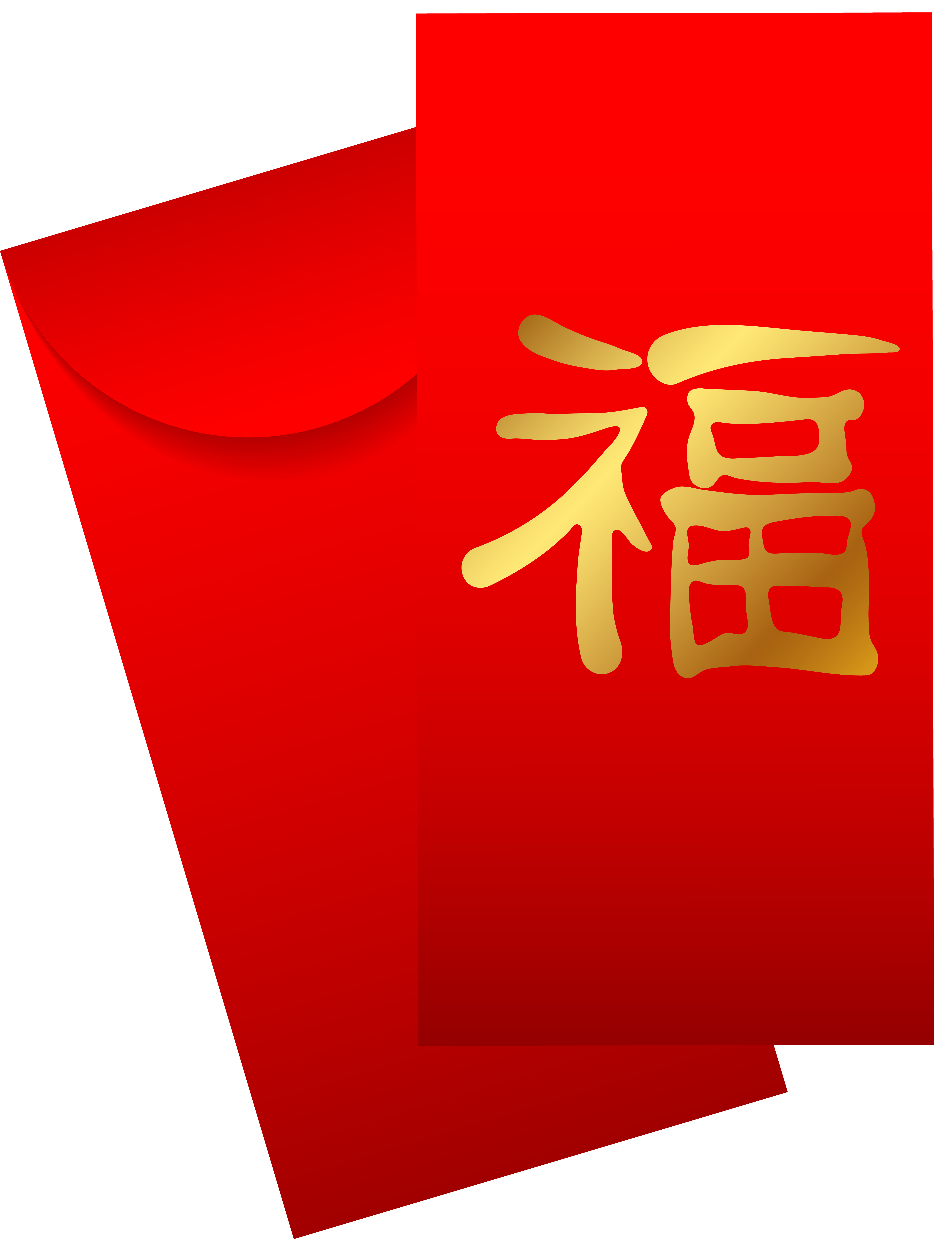 Envelope transparent red chinese. Png clip art best